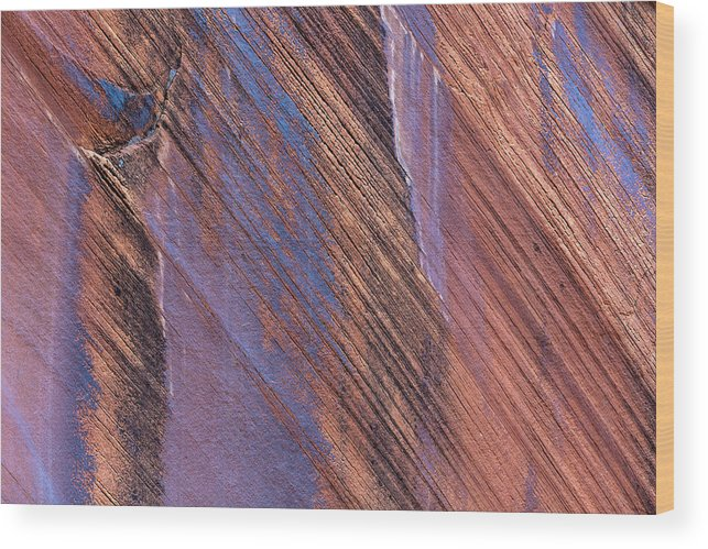 Abstract Wood Print featuring the photograph Usa, Utah, Glen Canyon National by Jaynes Gallery