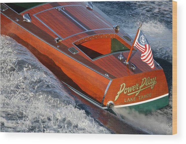 Riva Wood Print featuring the photograph Classic Hackercraft by Steven Lapkin