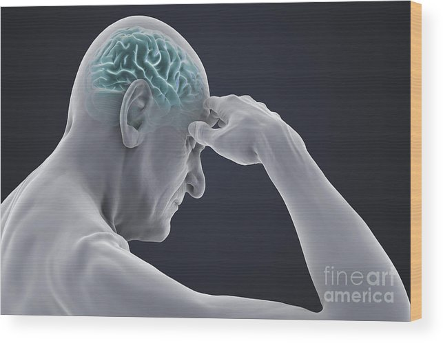 Head Pain Wood Print featuring the photograph Head Pain by Science Picture Co