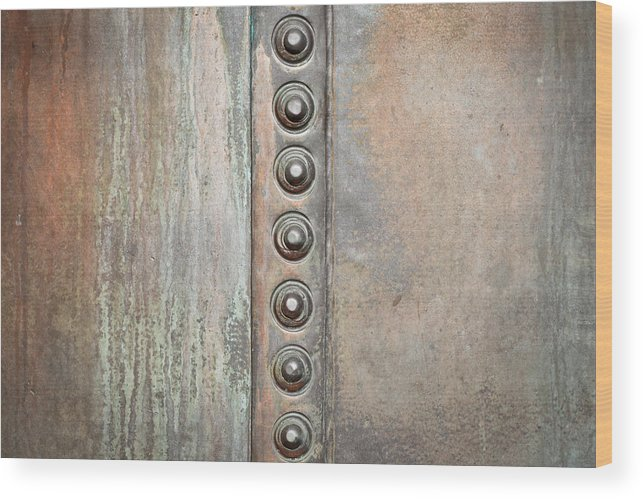 Abstract Wood Print featuring the photograph Metal Background by Tom Gowanlock