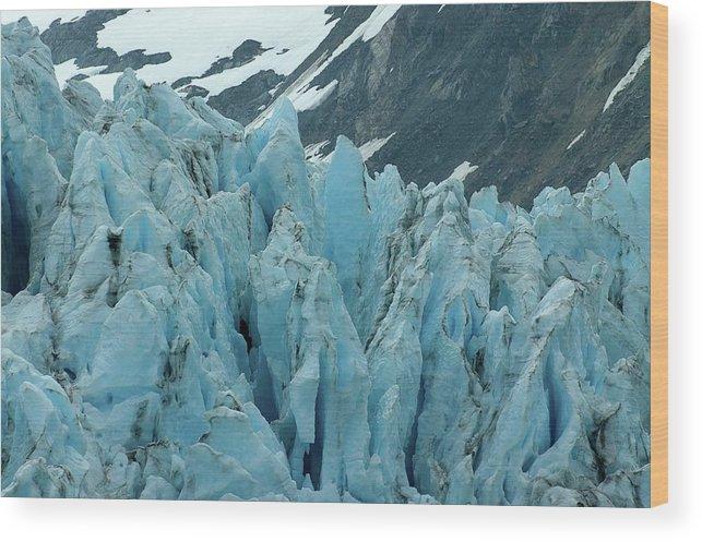 Alaska Wood Print featuring the photograph Alaska Glacier by Jeffrey Akerson