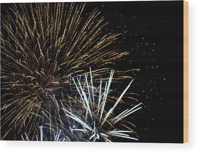 Fireworks Wood Print featuring the photograph Fireworks by Frank Gaertner