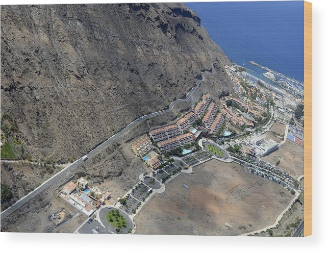 Wood Print featuring the photograph Fly Over Gran Canaria by Virginie Vanos