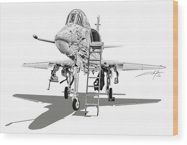 A-4 Skyhawk Wood Print featuring the digital art Ta-4j Skyhawk by Dale Jackson
