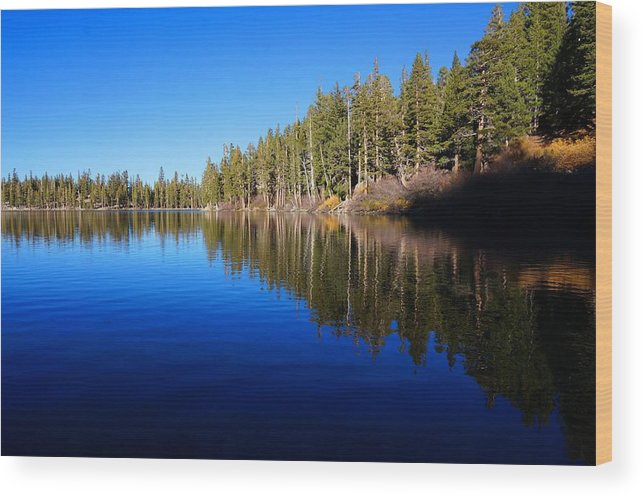 Lake Wood Print featuring the photograph A Mammoth Lake by Julia Ivanovna Willhite