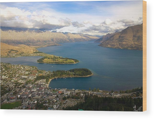 New Zealand Wood Print featuring the photograph Above Queenstown by Stuart Litoff