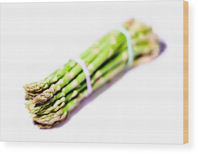 Asparagus Wood Print featuring the photograph Abstract - Asparagus by Frank Gaertner