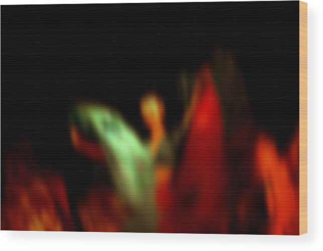 Dance Wood Print featuring the digital art Abstract Woman Dancing With Flowing Skirts by Joel Vieira