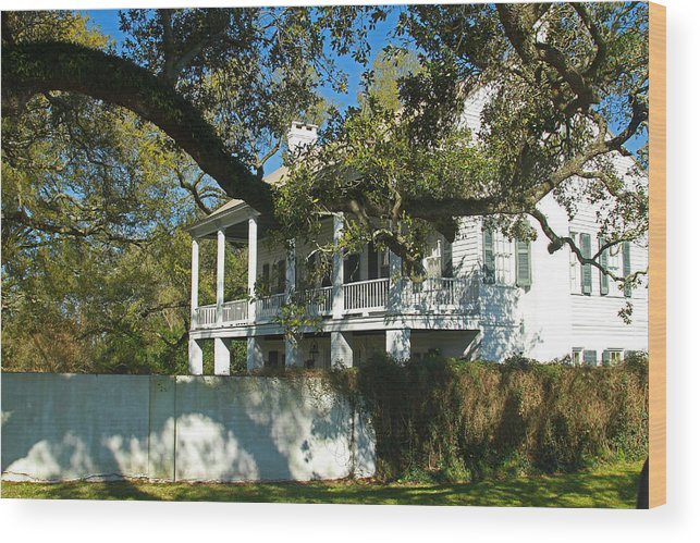 Cajun Wood Print featuring the photograph Acadian Home by Ronald Olivier