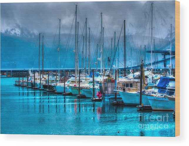 Boats Wood Print featuring the photograph Alaska Boats by Luther Barnett
