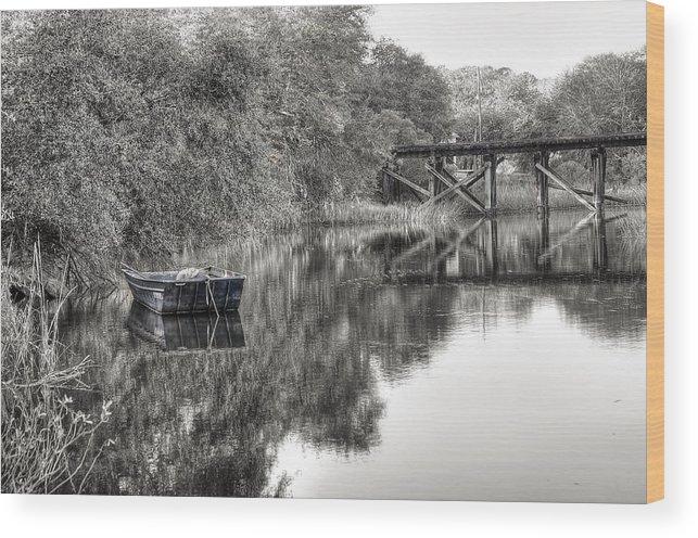 Abandoned Wood Print featuring the photograph Albergottie Creek Trestle by Scott Hansen