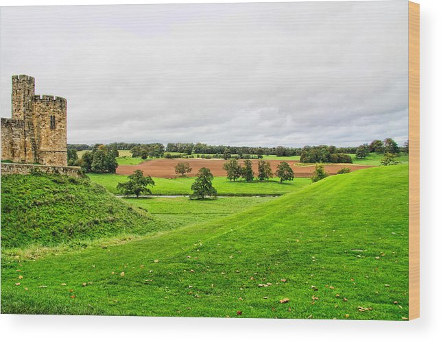 Alnwick Castle Wood Print featuring the photograph Alnwick Castle Estate by Jim Pruett