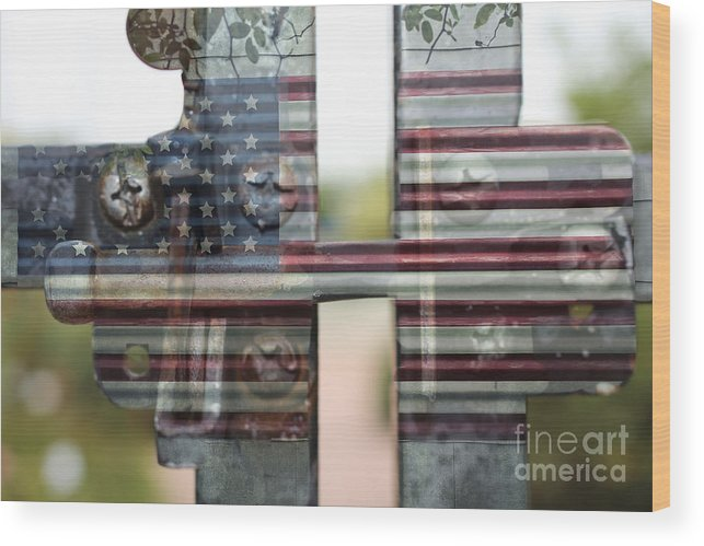 America Wood Print featuring the photograph America Land Of The Free by Ella Kaye Dickey