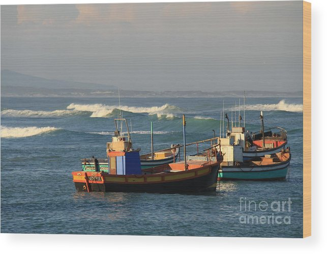 Seascape Wood Print featuring the photograph Anchored by David Van der Merwe