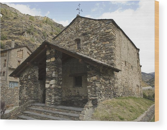 Colour Wood Print featuring the photograph Andorra. Canillo. Church Of Sant Joan by Everett