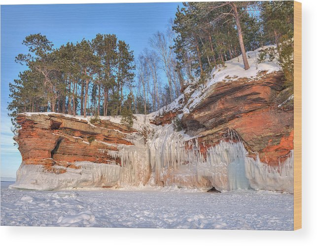 Apostle Islands Wood Print featuring the photograph Apostle Islands Winter by Shane Mossman