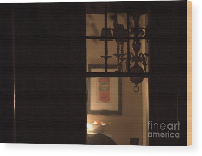 Any Town Sleeps Wood Print featuring the photograph as any town U S A sleeps by Steven Macanka