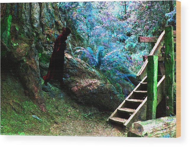 Forest Wood Print featuring the photograph At Home In Her Forest Keep - Pacific Northwest by Marie Jamieson