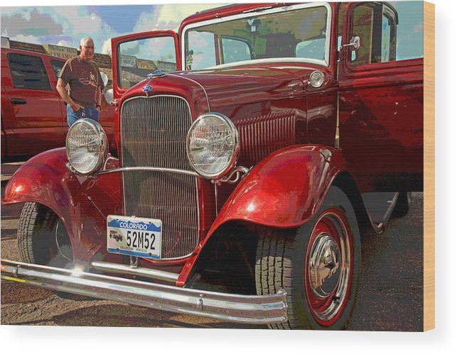 1930 Ford Coupe Wood Print featuring the photograph At The Car Show by Mike Flynn