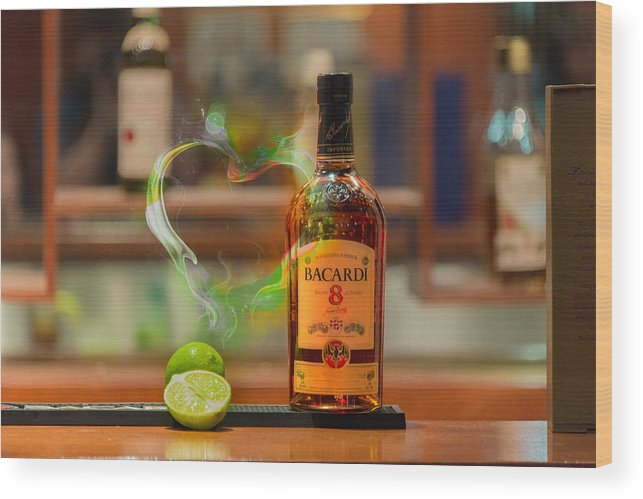 Bacardi Wood Print featuring the photograph Bacardi And Lime In Love by Gavin Baker