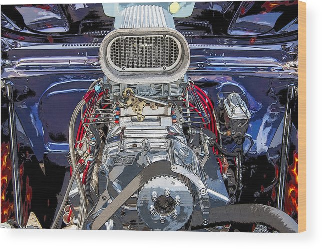 V8 Wood Print featuring the photograph Bad Boy Blower Motor by Rich Franco