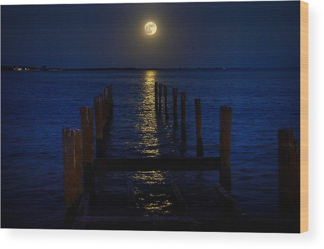 Bahamas Wood Print featuring the photograph Bahamas Nocturne by Steven Richman