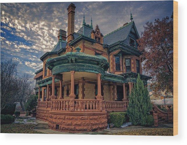 Joan Carroll Wood Print featuring the photograph Ball Eddleman Mcfarland House by Joan Carroll