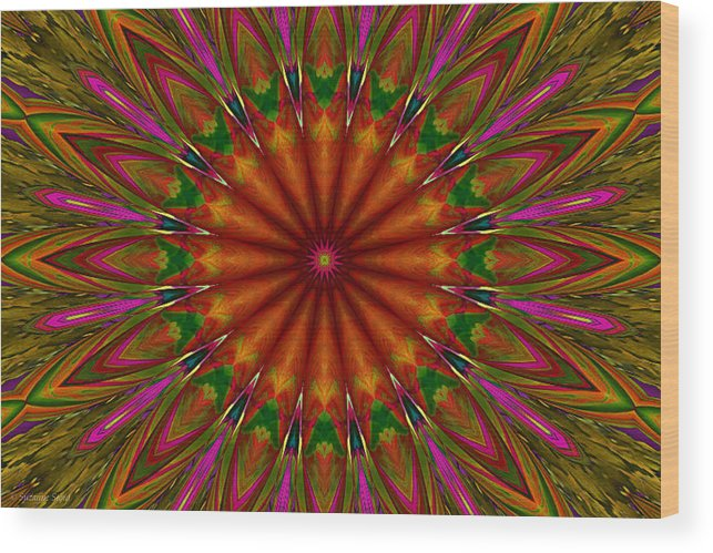 Symmetry Wood Print featuring the photograph Balloon Kaleidoscope by Suzanne Stout