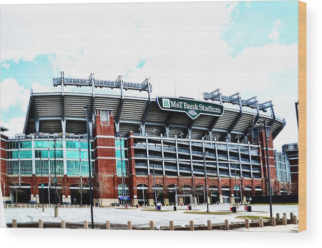 Baltimore Wood Print featuring the photograph Baltimore Ravens - M And T Bank Stadium by Bill Cannon
