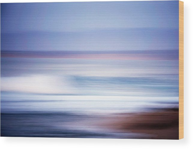 Monterey Bay Wood Print featuring the photograph Beach Blur 2 by Christopher Koski