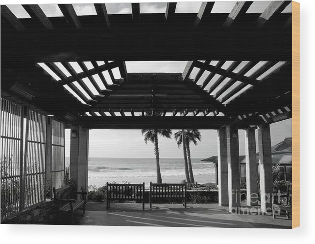 Architecture Wood Print featuring the photograph Beach In Del Mar California by Julia Hiebaum