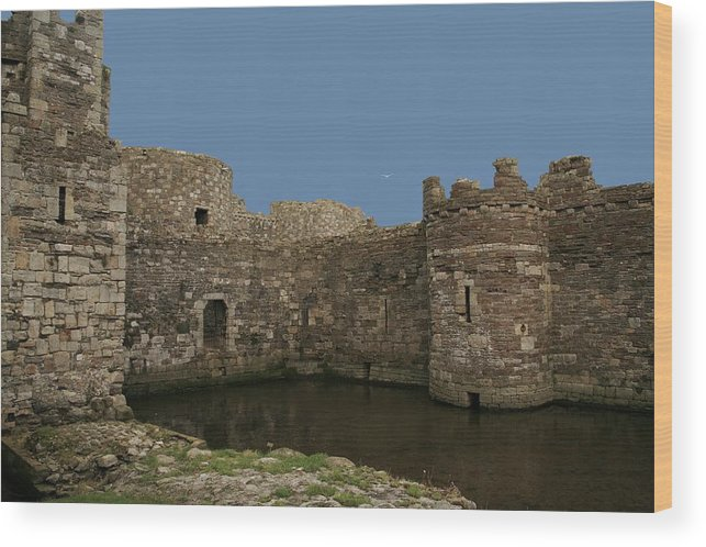 Castles Wood Print featuring the photograph Beamaris Castle by Christopher Rowlands