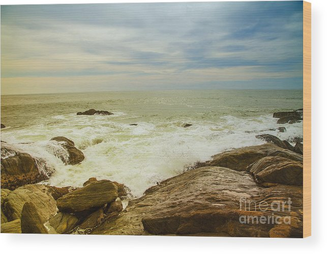 Water Wood Print featuring the photograph Beautiful Coastal Landscape by Regina Koch