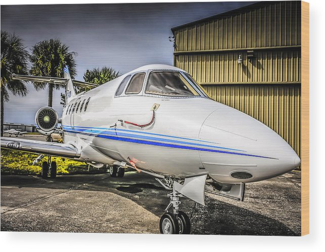 Hawker Wood Print featuring the photograph Beechcraft 900xp by Chris Smith