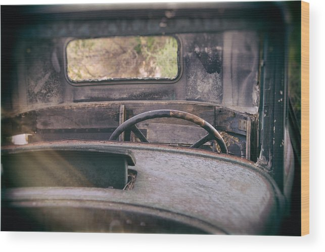 Abandoned Wood Print featuring the photograph Behind The Wheel by Peter Tellone
