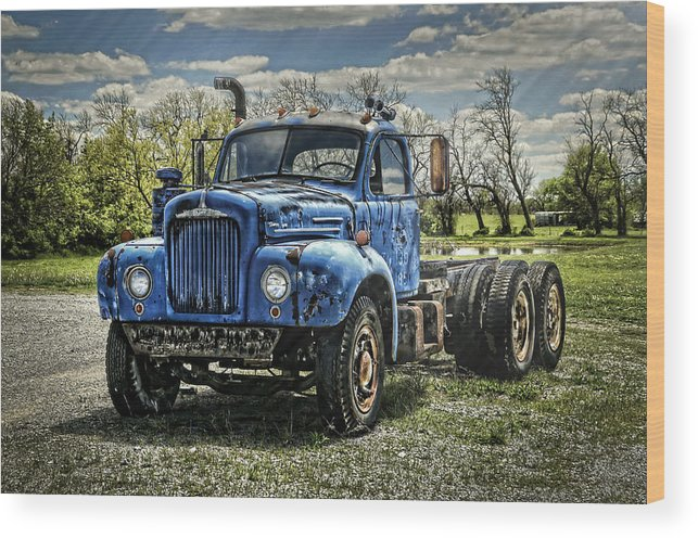 1958 Wood Print featuring the photograph Big Blue Mack by Ken Smith