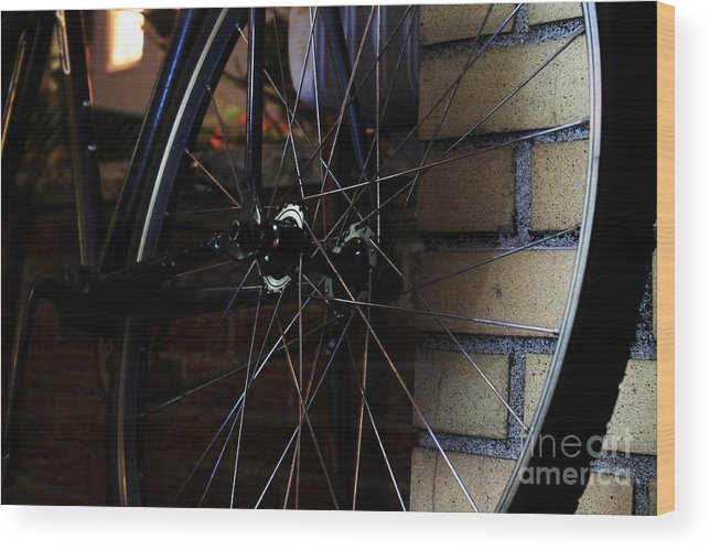 Beatiful Wood Print featuring the photograph Bike by Stuart Trejos