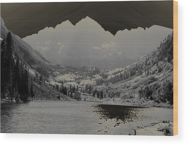 Maroon Bells Wood Print featuring the photograph Black Bells by Jeremy Rhoades