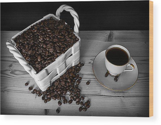 Black Wood Print featuring the photograph Black Coffee by Jon Gretarsson