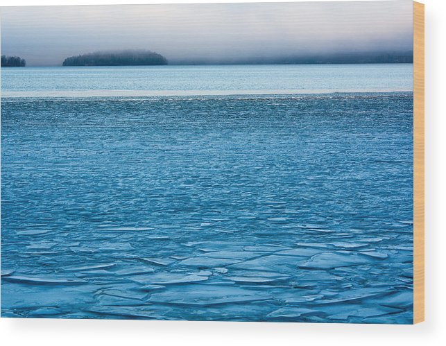 Blue Wood Print featuring the photograph Blue December by Ari Salmela