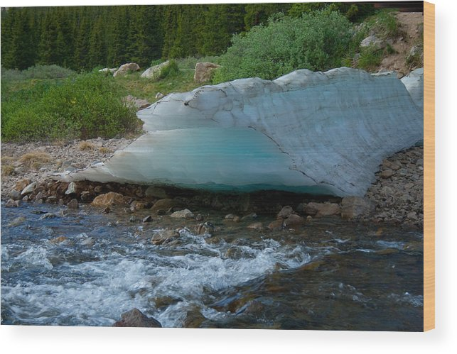 Blue Ice Wood Print featuring the photograph Blue Ice by Angus Hooper Iii