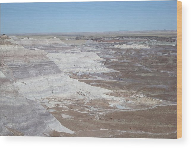 Eroded Landscape Wood Print featuring the photograph Blue Mesa View by Susan Woodward