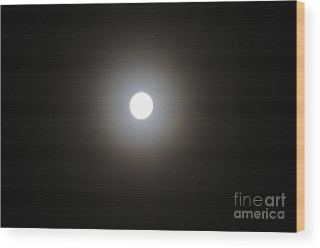 Moon Prints Wood Print featuring the photograph Blue Moon by R A W M