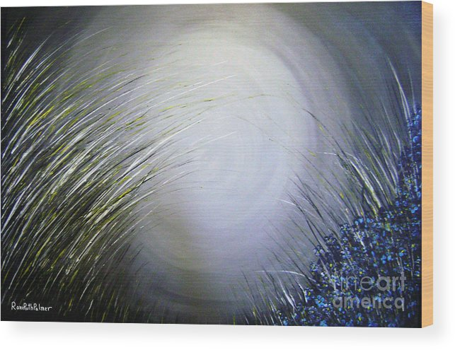 Shine Wood Print featuring the painting Blue Shine by Roni Ruth Palmer