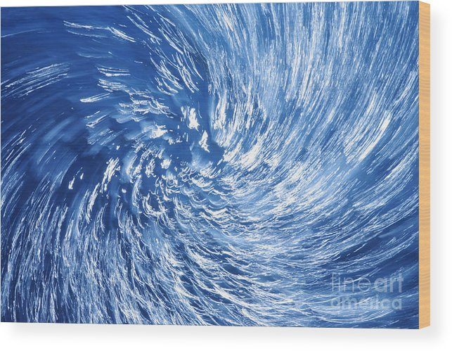 Twister Wood Print featuring the photograph Blue Water Twister Abstract by Konstantin Sutyagin