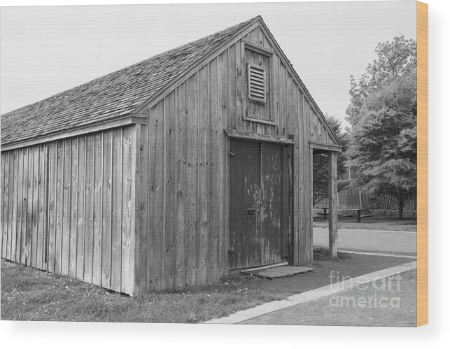 Shed Wood Print featuring the photograph Boat Shed by Ruth H Curtis