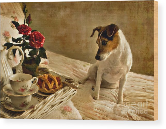Wood Print featuring the photograph Bon Appetit by Jean Hildebrant