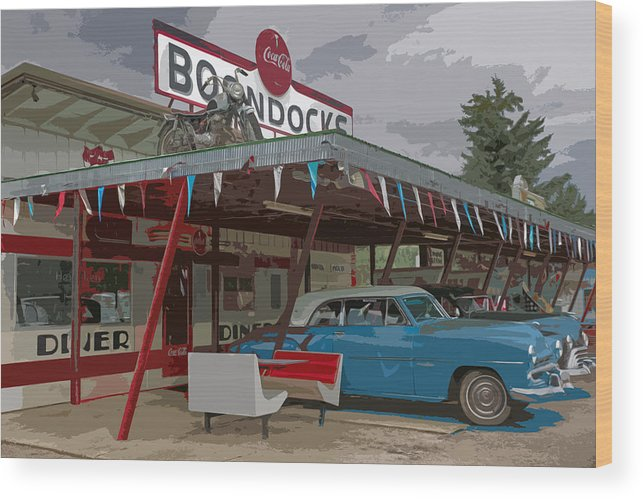 Boondocks Wood Print featuring the photograph Boondocks by Lynn Sprowl