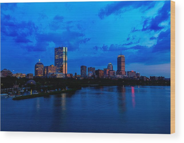 Longfellow Bridge Wood Print featuring the photograph Boston Evening by Rick Berk