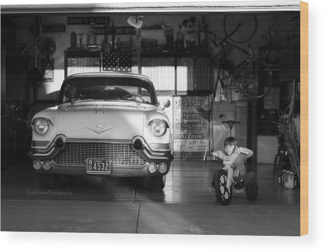 57 Cadillac Wood Print featuring the photograph Boys Toys by Kip Krause